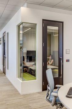 Quiet Rooms | Modern Workplace | Goodman Birtcher | Corporate Headquarters | Irvine, California | Interior Design by H.Hendy Associates