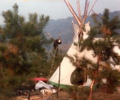 Our little TIPI in the early morning.  *dansuehath