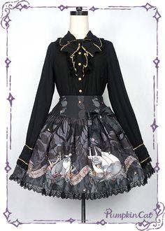 Pumpkin Cat -Dragon's Treasure- Lolita Skirt