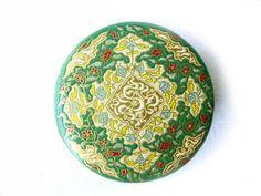 Powder box vintage Coty Paris Emerald by LeGrenierDeFrancine