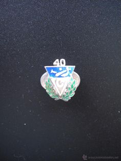 LOGO OF THE 40TH ANNIVERSARY OF THE VASCONIA CLUB, IS OF OJAL, SILVER AND ENAMELED, BASQUE BALL.  - Photo 1