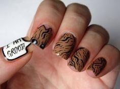 10 Kapow- I AM GROOT Nails - image #2151502 by saaabrina on Favim.com