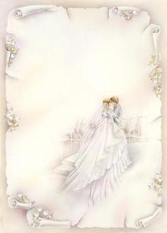 Wedding Invitation Size, Wedding Invitations, Wedding Cards Images, Blue Suit Wedding, Romantic Themes, Printable Pictures, Wedding Topper, Wedding Background, Wedding Scrapbook