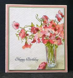 CC462 Sweet Peas by hobbydujour - Cards and Paper Crafts at Splitcoaststampers