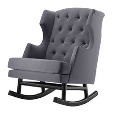 Super cool baby rocker. Love the tufting, the size, and the shape!