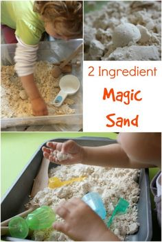 2 Ingredient Magic Sand - This you HAVE to make! Fantastic sensory play activity for kids!