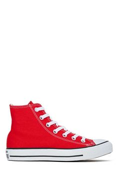 Converse All Star High-Top Sneaker in Red