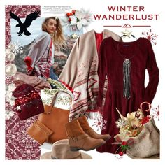"""Winter Wanderlust with American Eagle: Contest Entry"" by houseofhauteness ❤ liked on Polyvore featuring American Eagle Outfitters and aeostyle"