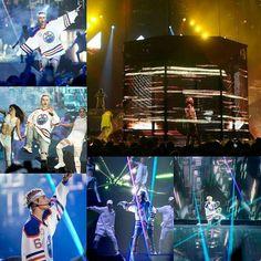 HQ photos of Justin Bieber performing on the #PurposeTour tonight in Salt Lake City Utah. (April 2)