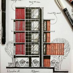 Sketch by @m.ansari.architect  #archidrawing #archisketch #architect ________________________________ . Use #arcfly tag to get featured. . Tag your archi friends. . ________________________________ #architecturalsketch #archisketcher #detailing #designprocess #sketchbook #architectualconcept #details #archiplan #architectural #architecturelife #oldschool #urbansketch #urbansketcher #dibujo #croqui #concept #blueprint #archidesign #archistudent #youngarchitect #designer #archilife…