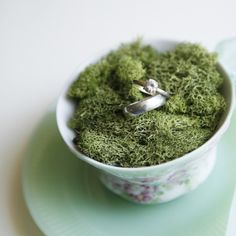 earth greens (tea cup ring pillow by whichgoose)