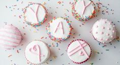 Flat frosted cupcakes