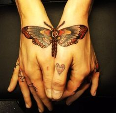 Lovely Butterfly Tattoo For Cute Girls