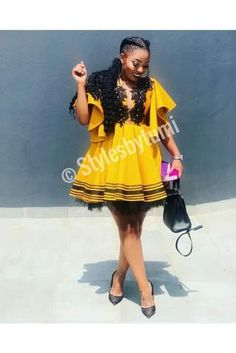 High Waisted Full Flare Dress – Styles By Tumi Traditional Dresses For Kids, Tsonga Traditional Dresses, African Traditional Wedding Dress, African Wedding Dress, Xhosa Attire, African Attire, Latest African Fashion Dresses, African Print Fashion, Tumi