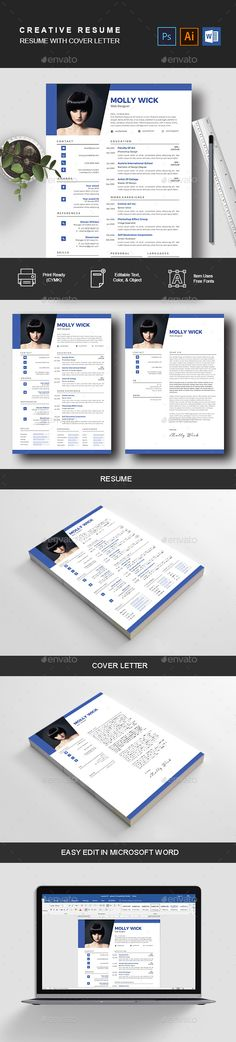 #Resume - Resumes #Stationery Download here: https://graphicriver.net/item/resume/20292028?ref=alena994