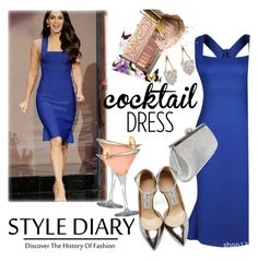 """""""Cocktail Dress in Blue"""" by clotheshawg ❤ liked on Polyvore featuring Beautiful People and Jimmy Choo"""