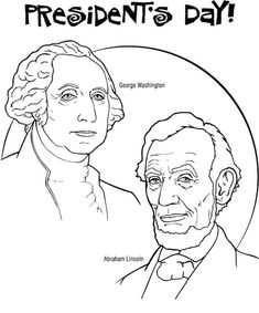 Free Coloring Sheets Of Presidents Day Abraham Lincoln And George Washington