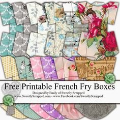 Free printable french fry boxes and a blank template too