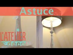 L'Astuce déco d'Aurélie Hémar : relooker une chambre dans un esprit campagne chic - Côté Maison Salon Style, Diy Hacks, Sconces, Wall Lights, Shabby, Tables, Armoire, Home Decor, Lamp Makeover