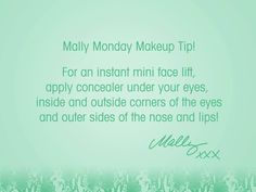 Always look well rested by using my Cancellation Concealer (even if you are moving a million a minute!) #MallyMonday #Concealer