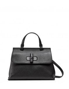 Gucci - Black Bamboo Lock Bag