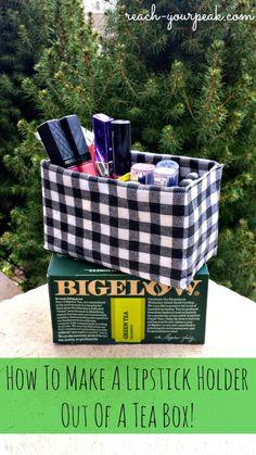 How To Make A Lipstick Holder Out Of A Tea Box #BigelowTea