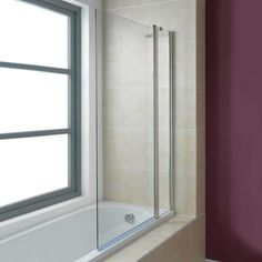 See our 6mm hinged bath screen plus many more hinged shower screens at…