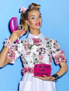 """""""Inspired by Ellen's The Real Barbie"""" Rosie Huntington-Whiteley by Giampaolo Sgura for Vogue Japan April 2015"""