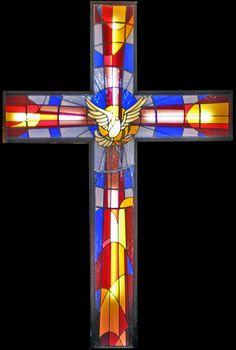 Art Glass by Wells Stained Glass Church, Modern Stained Glass, Stained Glass Patterns, Stained Glass Windows, Mosaic Glass, Glass Art, Altar, Jesus E Maria, Stain Glass Cross