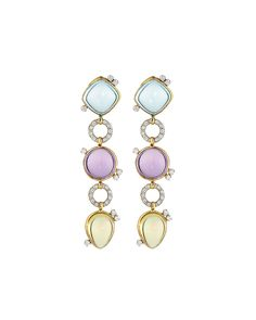 Roberto Coin Ipanema Cabochon Drop Earrings, Women's, Size: S, amethyst