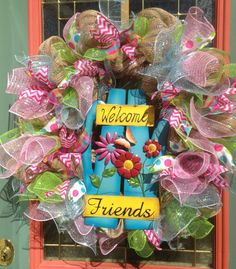 ON SALE...Summer Welcome Wreath Large Welcome by WreathsAndTrends