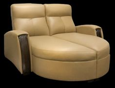 The Monaco Chaise Lounge is a stylish fixed-back loveseat with beautiful wood tilt-out wooden cupholders and incredible supple leather covering. : double chaise loveseat - Sectionals, Sofas & Couches
