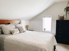 Check out these bedroom decor projects on a dime. Make your master bedroom cozy with these cheap and easy DIYdecor ideas. #hometalk Relaxing Master Bedroom, Cozy Bedroom, Bedroom Decor, Bedroom Storage, Bedroom Ideas, Wall Decor, Guest Bedroom Office, Guest Room, Slanted Ceiling