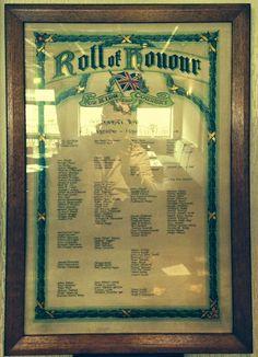 Barnsley War Memorials Project: Penistone Royal British Legion WW1 Roll of Honour