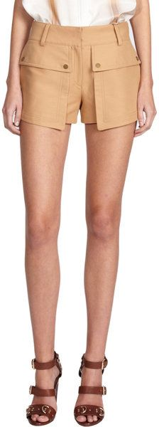 Belstaff Everly Shorts in Beige - Lyst