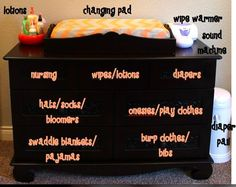 How to organize your baby's dresser- I may be reorganizing it for the 4th time...
