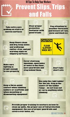 10 Tips To Help Your Workers Prevent Slips, Trips and Falls