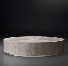 Machinto Round Occasional - Brown Oak/Brass | RH Modern