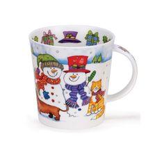 Dunoon mugs Cairngorm Santa's Friends Snowman by adam.jetking