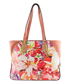Love this Pink Floral Zipper-Accent Tote on #zulily! #zulilyfinds