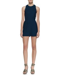 Halter-Top Short Jumpsuit by Alice + Olivia at Neiman Marcus.
