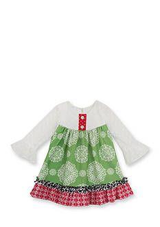 Rare Editions Mixed Media Dress Toddler Girls