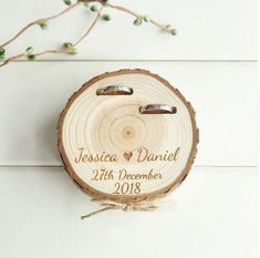 Customized Wedding Gifts Ring Bearer Box Personalized Ring Holder Nature Wood Slice Ring Box For Engagement Customized Wedding Gifts Ring Bearer Box Personalized Ring Holder Natu – Magnolias Blue. Rustic Ring Bearers, Ring Bearer Box, Wooden Ring Box, Wooden Rings, Custom Wedding Gifts, Personalized Wedding, Ring Holder Wedding, Personalised Box, Marriage Proposals