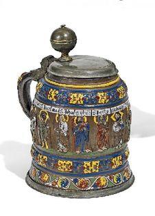 Keramik: Apostelkrug. .