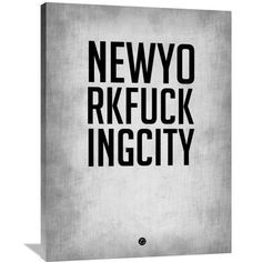 Naxart 'New York City' Poster Textual Art on Wrapped Canvas Size: