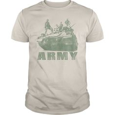 Army Tank Show Your Pride! Armed Forces Gear, Patriotic Shirts, Pride, Gifts, Military, Army, Airforce, Navy, Marines, Coast Guard, Tees, United States Veterans, U.S.A., United States of America, T-Shirts, Wife, Girlfriend, Husband, Family, Mom, Dad, Son, Daughter, Quotes, Sayings