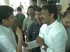 Congress leader Chiranjeevi breaks queue, gets reprimanded by voter
