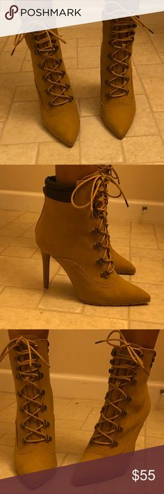 🔥🔥NEW Timberland Inspired Heels🔥🔥 🔥🔥Timberland inspired heel🔥🔥 Stylish can be dressed up or worn with jeans. New!!! Shoes Heeled Boots