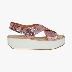 Sandales Malabar glitter, Flamingos #VuAuBonMarche #LeBonMarche #shoes #mode #femme #fashion #women