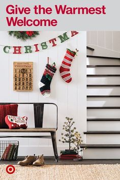 The Gather Collection's classic decor—like advent calendars and wreaths make for a jolly first impression.